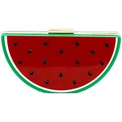 Shiratori Women's Acrylic 3D Watermelon Evening Handbag Party Clutch Crossbody Shoulder Purse