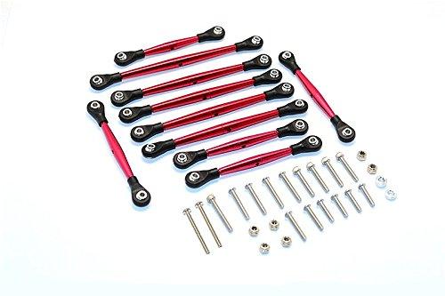 Thunder Tiger Kaiser XS Upgrade Parts Aluminum Link Parts & Sterring Rod - 10Pcs Set Red
