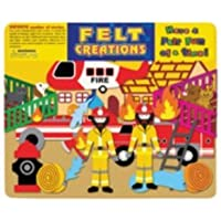 Felt Creations Fire Engine Felt Story Board