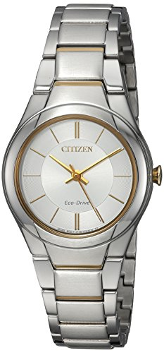 Citizen Women's 'Eco-Drive' Quartz Stainless Steel Casual Watch, Color:Two Tone (Model: ()