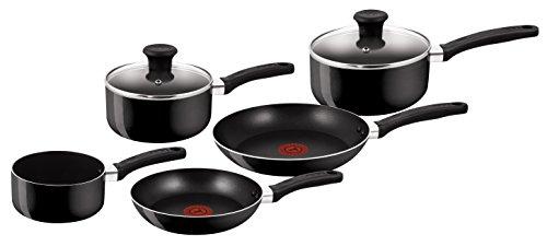 Tefal Delight Cookware Set - Black, 5 Pieces