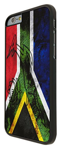 587 - South African Flag Sa Flag Design Design iphone 6 Plus / iphone 6 Plus 5.5'' Coque Fashion Trend Case Coque Protection Cover plastique et métal - Noir