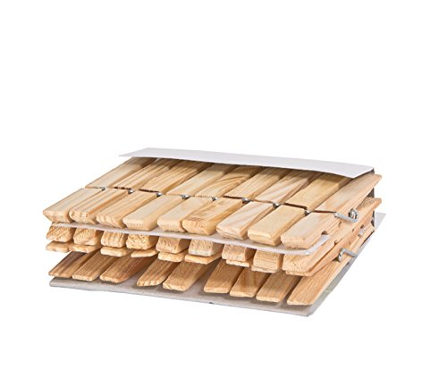 Pro-Mart Heavy Duty 4 Coil Wooden Clothespins (18 Pack)