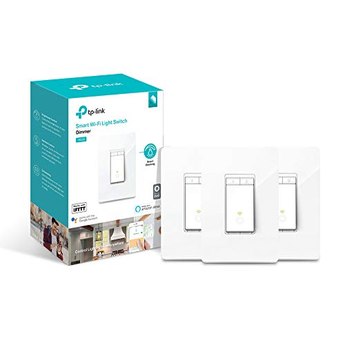 TP-LINK HS220P3 Kasa Smart WiFi Light Switch, Dimmer (3-Pack), White