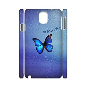Beautiful butterfly Personalized 3D Case for Samsung Galaxy Note 3 N9000, 3D Customized Beautiful butterfly Case
