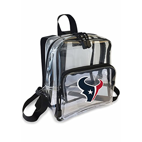 The Northwest Company Officially Licensed NFL Houston Texans Unisex X-Ray Mini Stadium Friendly Transparent Backpack, Black