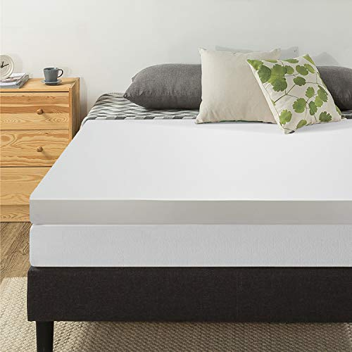 "Best Price Mattress 4"" Memory Foam Mattress Topper, RV / Short Queen"