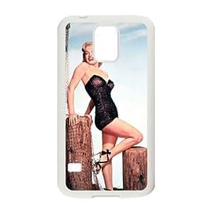 C-EUR Customized Print Marilyn Monroe Hard Skin Case Compatible For Samsung Galaxy S5 I9600 hjbrhga1544