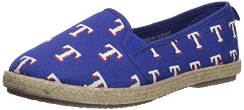 FOCO MLB Texas Rangers Women's Espadrille Canvas Shoes, Small, Team Color