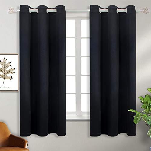 BGment Black Blackout Curtains