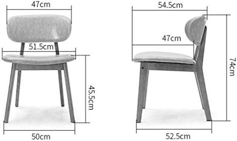 Mlzaq Salle de cuisine Chaises Chaise Accueil Cadre en bois massif Salle à manger Chaise Loisirs Réception Chaise - Chatain PU coussin d'assise à manger Meubles de chambre