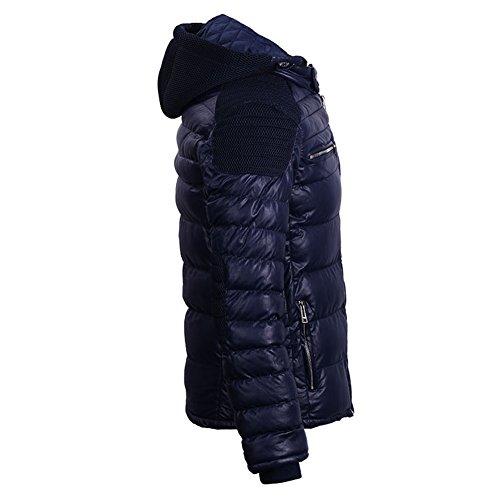 COUTUDI azul guateada para oscuro chaqueta hombre Chaqueta 6Rrw68q