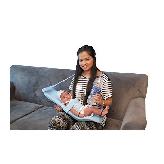 HOOPA Feeding Pillow Plus, Blue | Feeding Pad | Nursing Pad | Infant Carrier | Baby Carrier | Reclined Carrier | Nursing Pillow