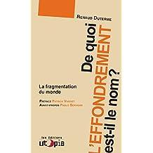 De quoi l'effondrement est-il le nom ?: La fragmentation du monde (Ruptures) (French Edition)