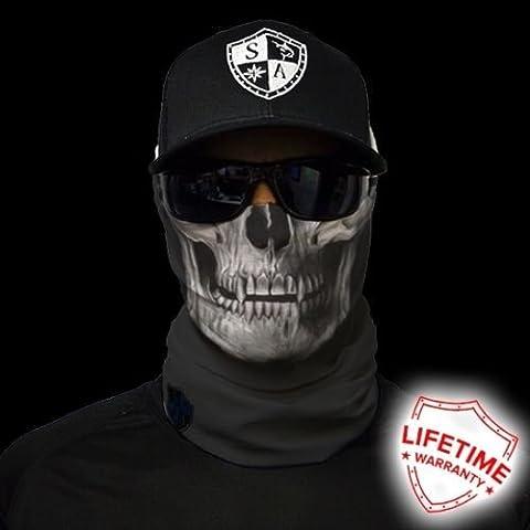 Tactical Black Skull Salt Armour SA Motorcycle Face Shield Sun Mask Balaclava (Cherub Mask)