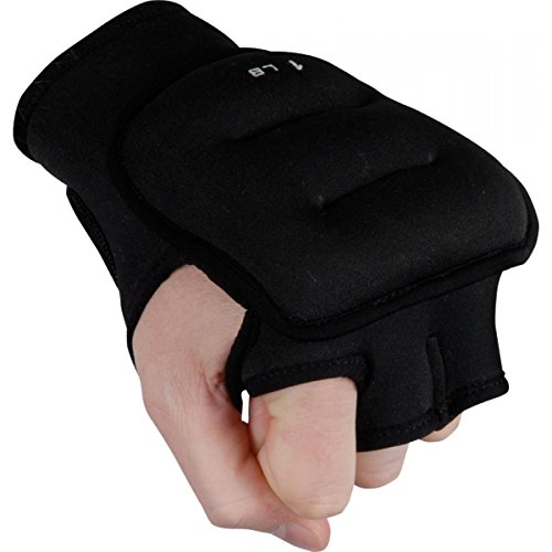 Weighted Gloves Set (TITLE Weighted Gloves, Black, 3 lbs)