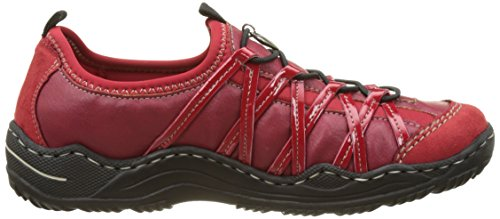 rosso L0559 Basses rosso Rouge 33 Rieker Fire Femme rouge rosso PR8dq