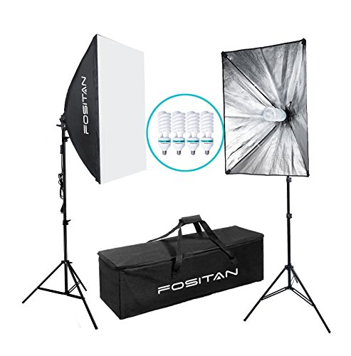FOSITAN 1600W LED Photography Studio Lighting Light Kit Softbox, Photo Studio Kit for Photo Portrait Video Photography Shoot 20