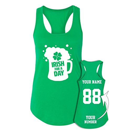 Custom Jerseys St Patrick's Day Tank Tops - Saint Pattys Irish -