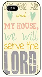 LJF phone case As for me and my house, we will serve the Lord - Bible verse iPhone 5C black plastic case - Joshua 24:15.