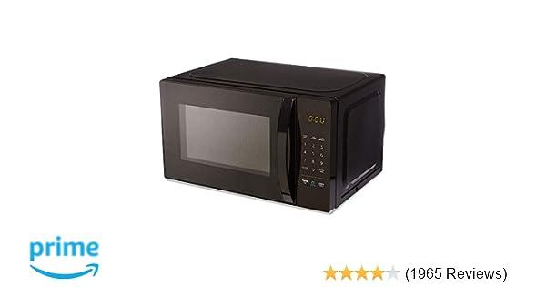 Amazonbasics Microwave Small 0 7 Cu Ft 700w Works With Alexa