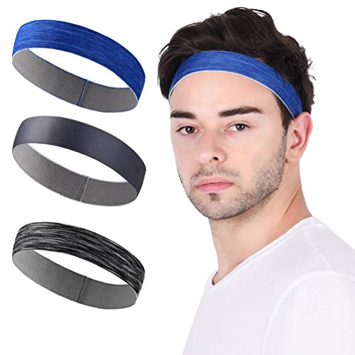 - Sports Headband Sweatbands Workout Headbands for Men Women 3-Pack Sweat Wicking Hair Bands for Yoga Running Elastic Non Slip