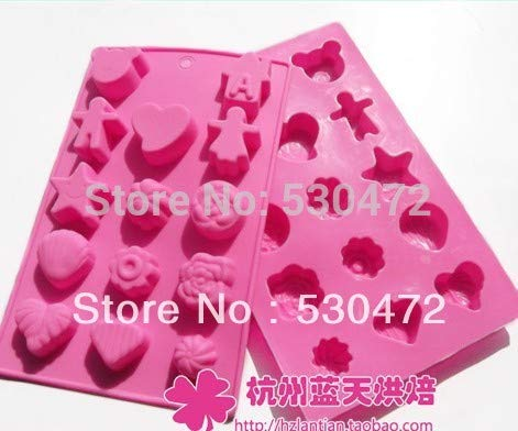 (Soap Mold - Silica Gel Chocolate Mould Baking Mold 20 13 1.5cm - Honey Life Tool Decorative Alphabet Octagon Devider Small Elephant Shells Turtle Horse Column Plastic Cross Wedding Circle)