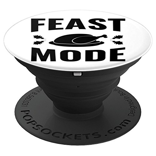 (Feast Mode Thanksgiving Turkey Dinner Meal Stuffed - PopSockets Grip and Stand for Phones and Tablets)