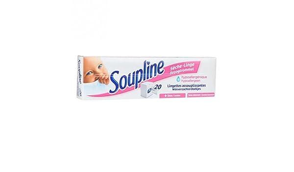 Soupline - Toallita secadora de ropa hipoalergénica - 20 unidades: Amazon.es: Salud y cuidado personal