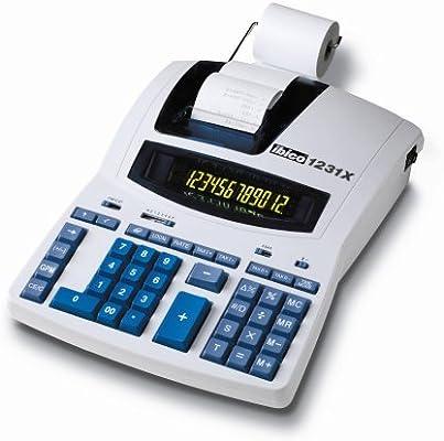 Ibico 1231X - Calculadora impresora (pantalla a color, 12 dígitos ...