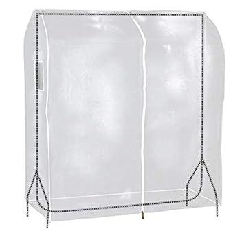 design de qualité b5f05 91c1d Simpson & Ruxton Housse de portant à vêtements transparente en plastique  PEVA robuste, imperméable et de haute qualité, blanc, 122 cm Wide x 60 cm  ...