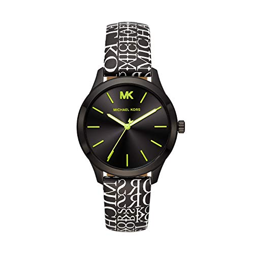 Michael Kors Women's Runway Stainless Steel Quartz Watch with Nylon Strap