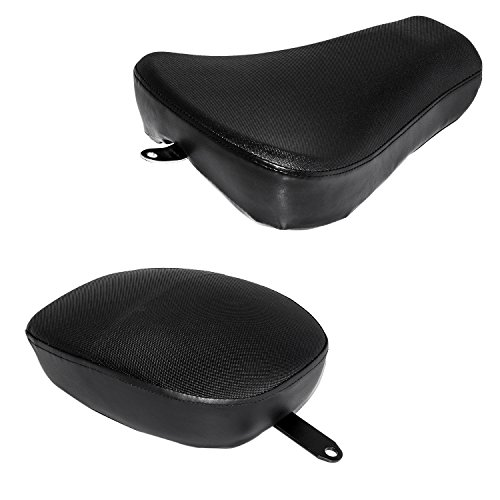 Senkauto Front Rider Solo Seat + Rear Passenger Pilion Pad For Harley Sportster XL1200 883 48 72