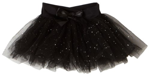 Capezio Little Girls' Tutu Skirt W/ Glitter Tulle,Black,Intermediate ( 6-8) Capezio Dance Skirt