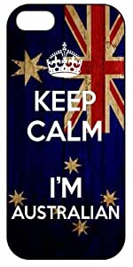 Keep Calm I'm Australian, Australia Flag 1035, iPhone 4/4S Premium Hard Plastic Case, Cover, Aluminium Layer, Quote, Quotes, Motivational, Inspirational, Theme Shell