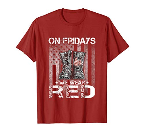 Red Friday Military T-shirt Remember Everyone Deployed Tee