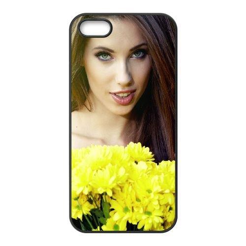 Girl Bouquet Flowers 77259 coque iPhone 5 5S cellulaire cas coque de téléphone cas téléphone cellulaire noir couvercle EOKXLLNCD23926