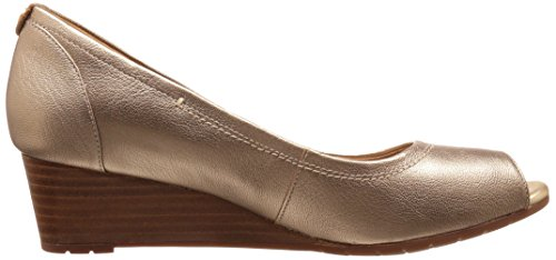 Clarks Womens Vendra Daisy Dress Pompa Oro / Pelle Metallizzata