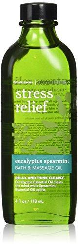 Spearmint Stress Relief (Bath & Body Works Aromatherapy Stress Relief Eucalyptus Spearmint Massage Oil 4 Fl Oz)