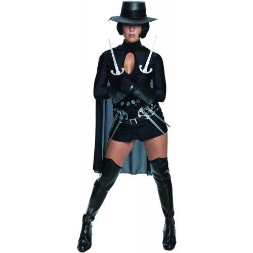 (Secret Wishes Womens V for Vendetta Costume, Black,)
