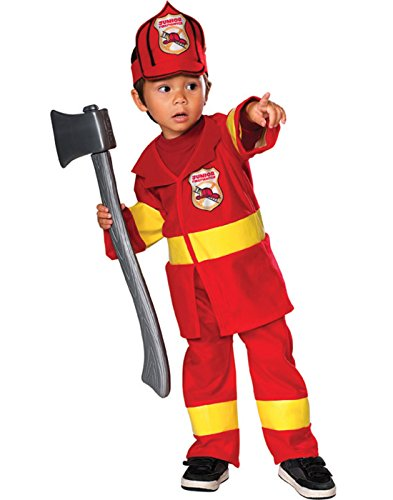 Firefighter Costumes For Girls (Jr Firefighter Costume: Toddler's Size 2T-4T)