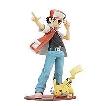 "Kotobukiya ARTFX J ""Pokemon"" series Red with Pikachu 1/8 Scale Painted PVC figure"