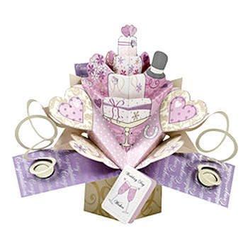 Wedding Cake Card - Pop Up Wedding Cake Card
