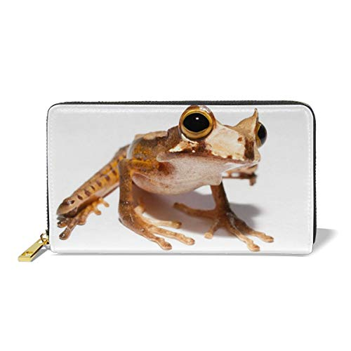 Women Genuine Leather Wallets Horned Frog Credit Card Holder Organizer Ladies Purse Zipper Around Clutch Cash ()