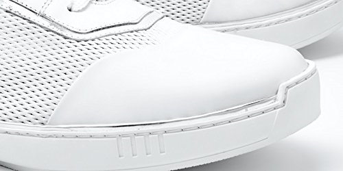 in Top Silver made Sneaker White PHINOMEN High italy Handarbeit Luxus Echtleder qvgXxOOw76