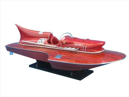 Handcrafted Model Ships F01 Ferrari Hydroplane Limited 32 in. Decorative Speed Boat
