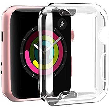 Amazon.com: Smiling Clear Case for Apple Watch Series 3 38mm ...