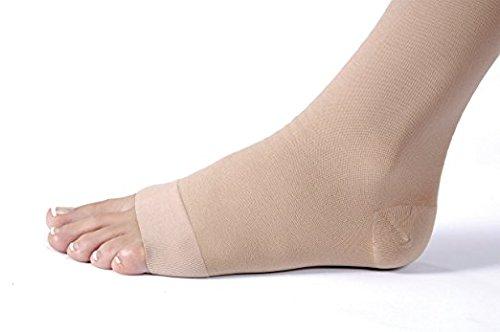 JOBST Relief Knee High 20-30 mmHg Compression Socks, Open Toe, Beige, X-Large