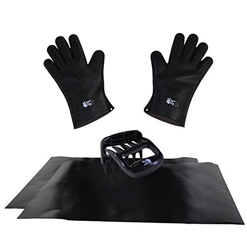 Pulled Pork Claws, Barbecue Gloves and BBQ Grill Mat set of 2