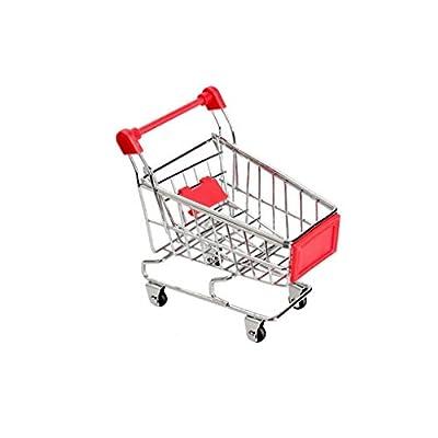 Acoolstore Baby Kids Simulation Mini Shopping Cart Toys Handcart Supermarket Storage Basket Trolley Toy Mini Shopping Cart Desktop Trolley (NO.1): Toys & Games
